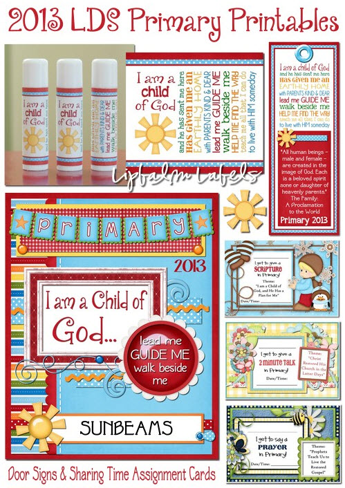 2013 Primary Printables by Colette