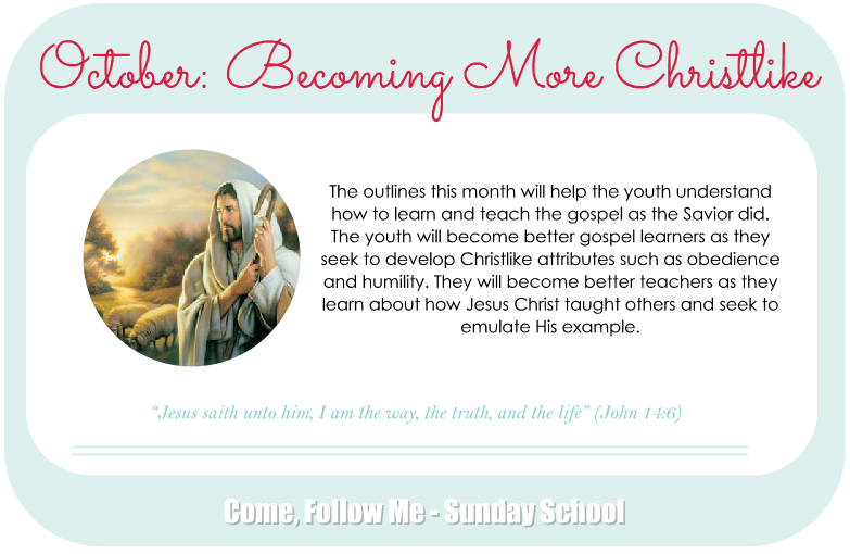 October: Becoming More Christlike