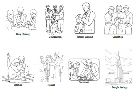 Priesthood Blessings and Ordinances - Coloring Sheet