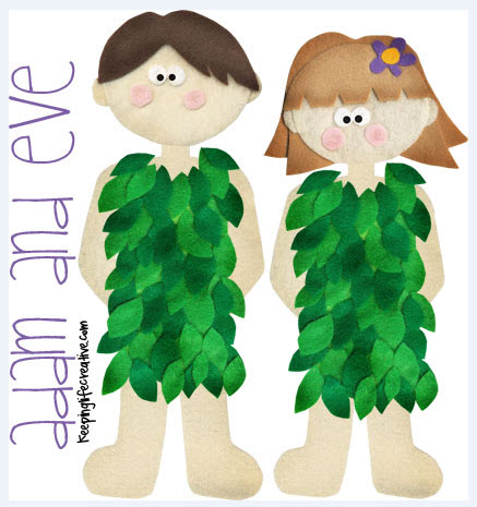 Adam and Eve Flannel Board Printable