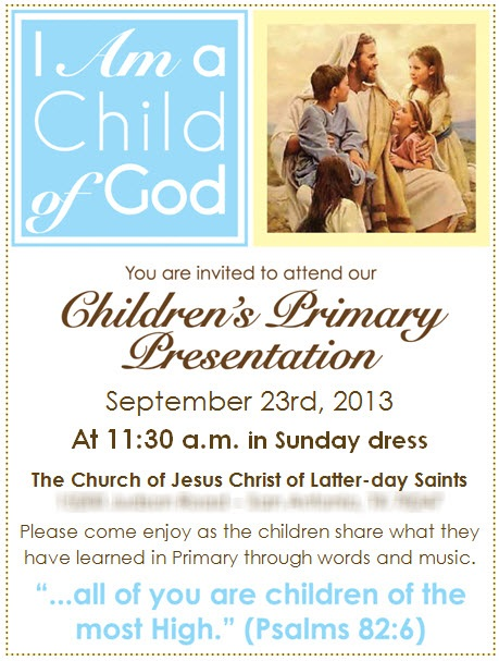 2013 Primary Program Invitations