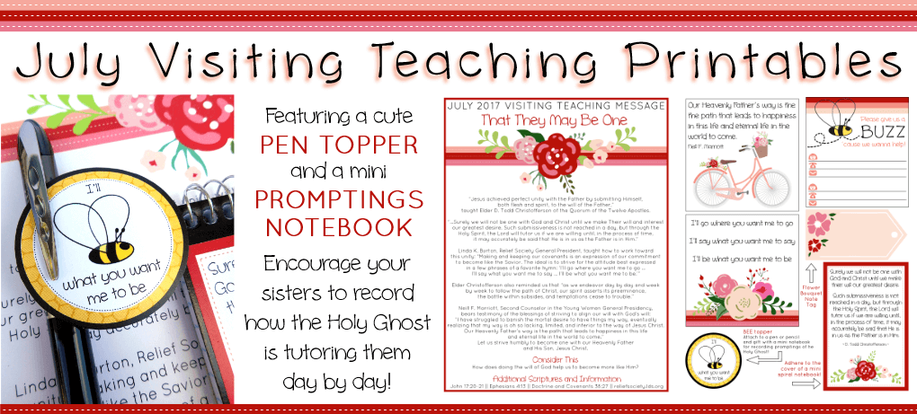 July Visiting Teaching Printables