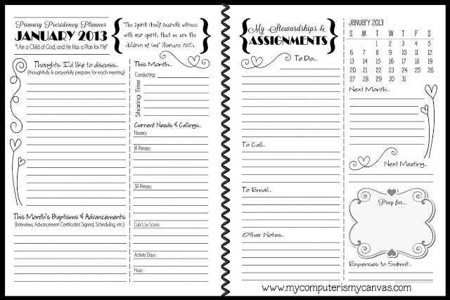 Colette's Ultimate 2013 Primary Planner