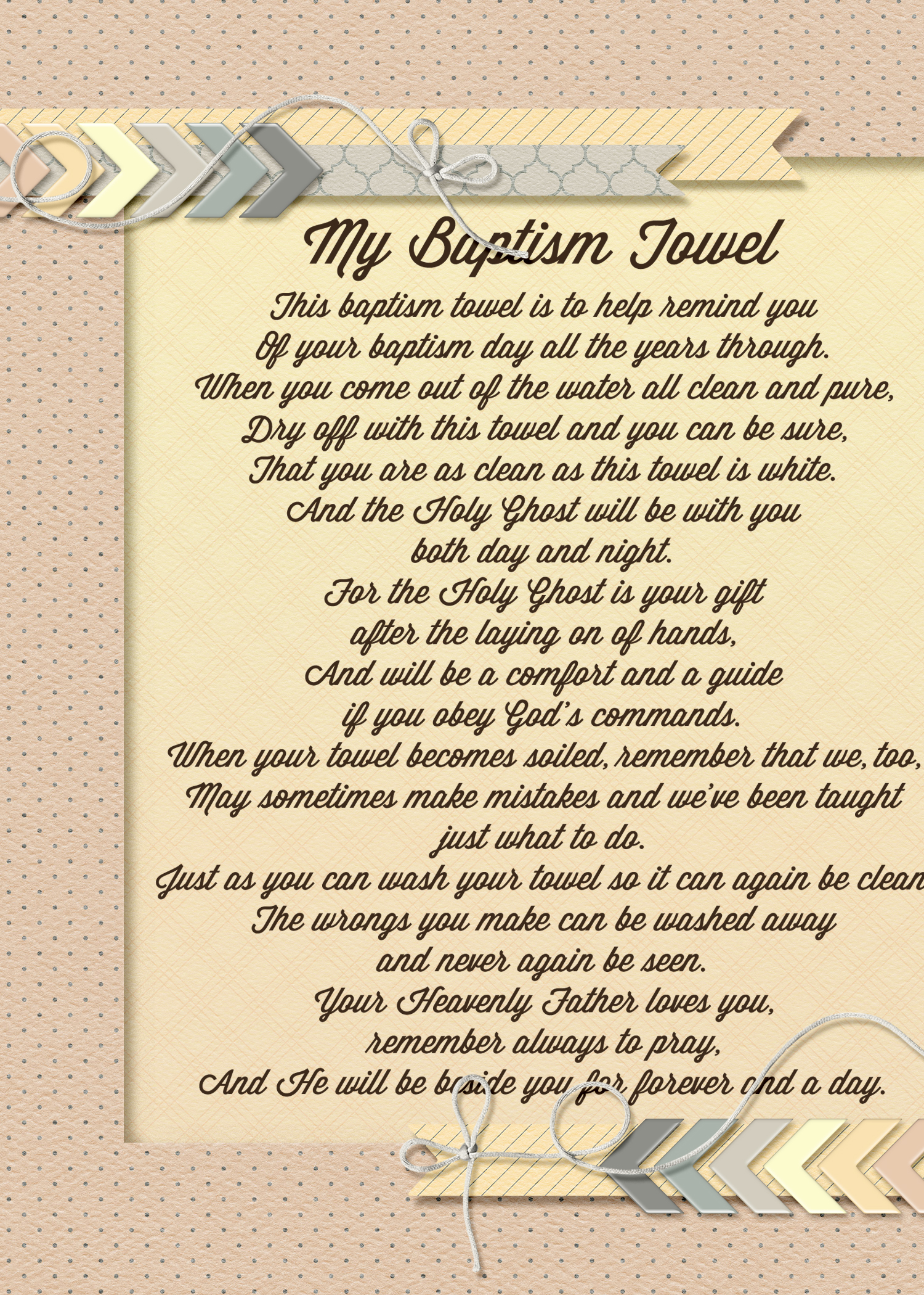 Lds Baptism Poem - Viewing Gallery